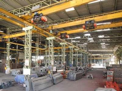 Overhead Crane with capacity 25 MT * 3 nos, 10 MT * 5 nos & 7.5 ton * 10 nos.